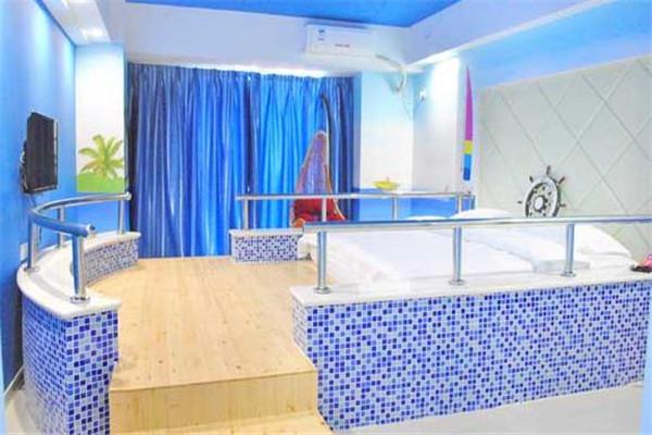唯爱主题酒店蓝色风格