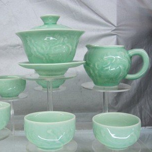 龍泉青瓷套杯