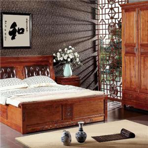 御舍实木家具床