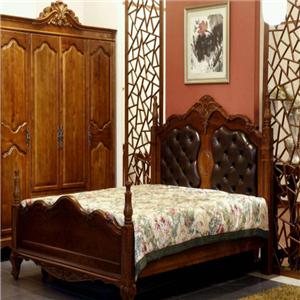御舍实木家具欧式床