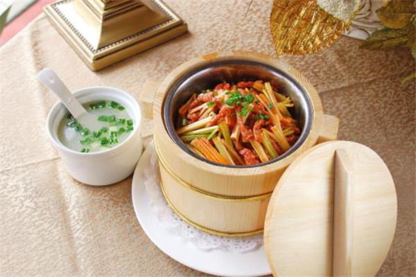 三湘农家木桶饭美食
