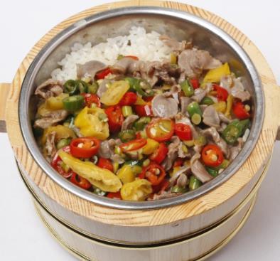 湘赣农家木桶饭美味