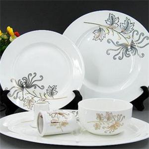 手工匠瓷餐具白色