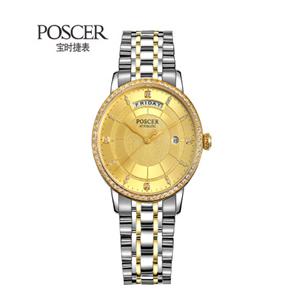 寶時捷手表金色表盤
