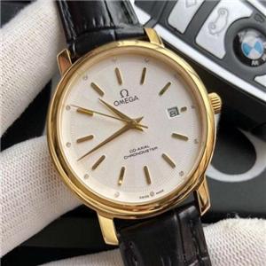 欧米茄手表金色表盘手表