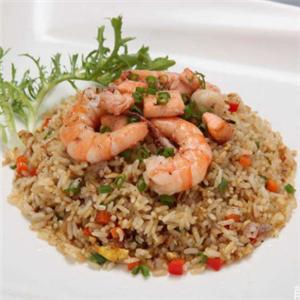 龙门海鲜铁板炒饭大虾