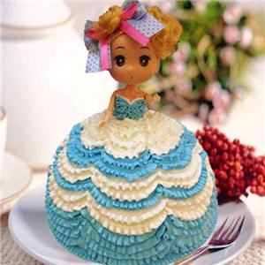 心怡艺术蛋糕蓝色
