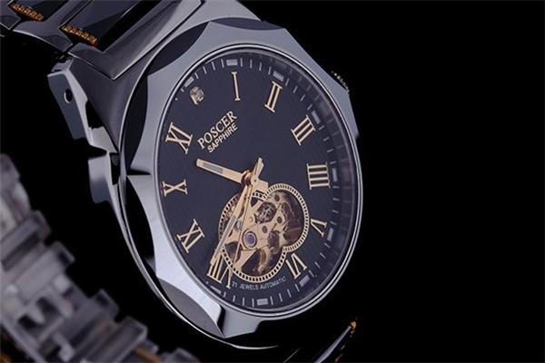 寶時捷手表黑色手表