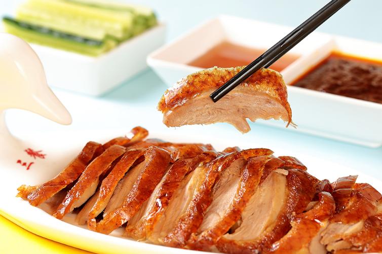 枣木牌烤鸭美食
