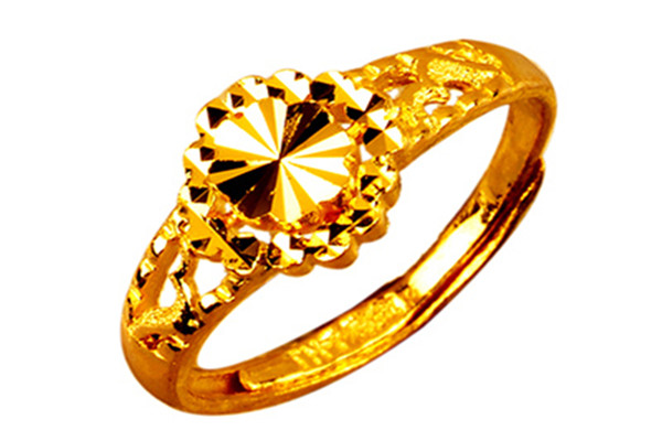 金创黄金戒指