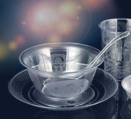壽百康一次性水晶餐具產品