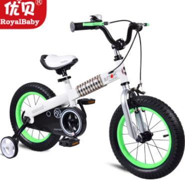 優貝兒童自行車白色戰甲