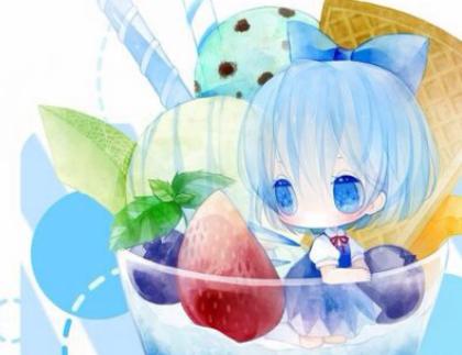 藍色冰淇淋