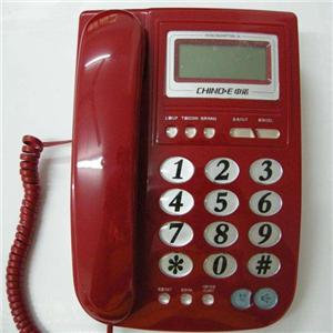 中诺电话机暗红