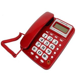中诺电话机红色