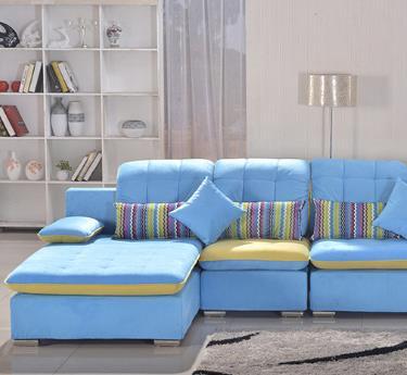 李布艺沙发蓝色