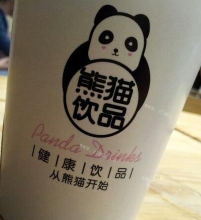 熊貓奶茶店包裝