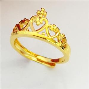 神都沙金黃金戒指