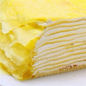 一只榴芒榴莲千层蛋糕招牌
