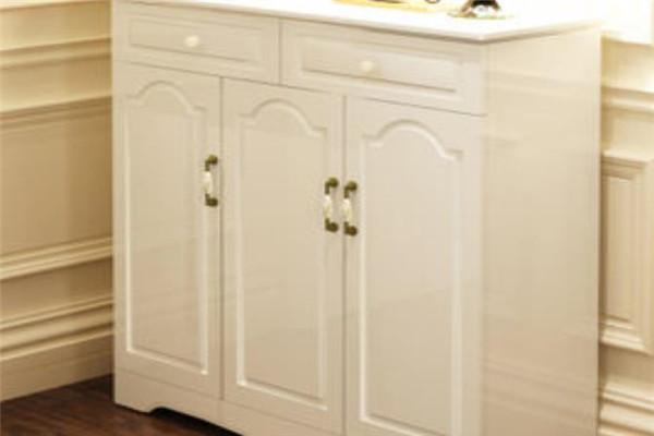 開心鼠鞋柜白色