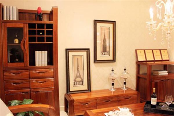 意利达实木家具柜子