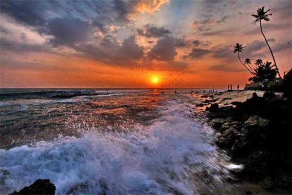 斯里兰卡摄影波浪