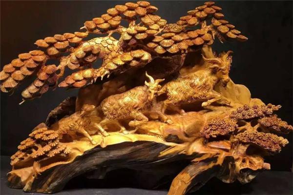崖柏工藝品木雕