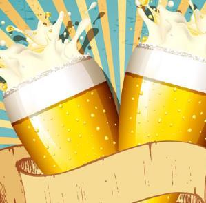小麦白啤酒宣传