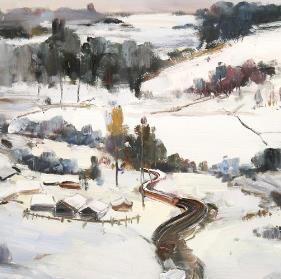 雪景油画加盟