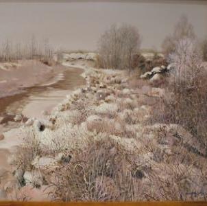 雪景油画景色