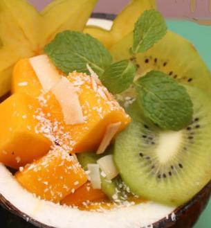 榴哩仙椰子碗猕猴桃