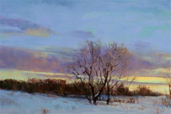 雪景油画作品