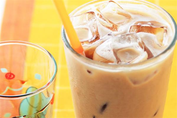 葵米珍珠饮品布丁奶茶