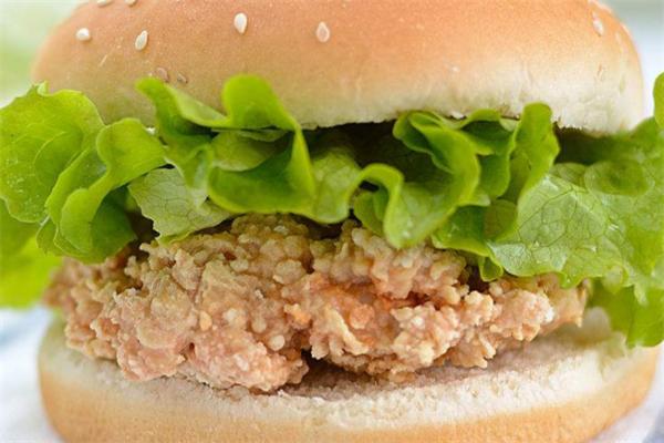潮鸡库鸡排汉堡香辣鸡腿堡