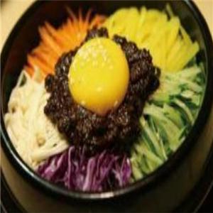 美味石锅拌饭招牌