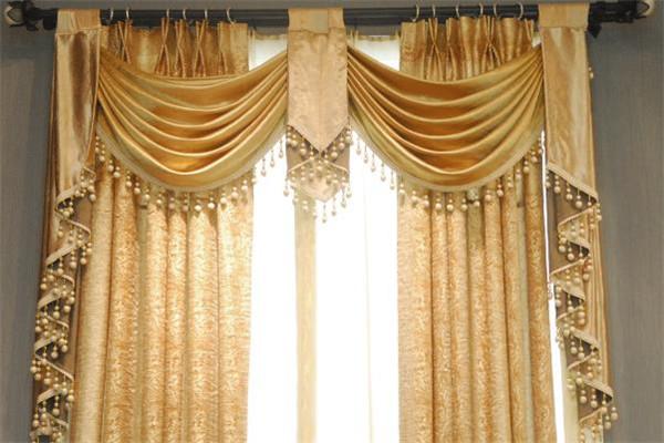 优克窗帘金色窗帘