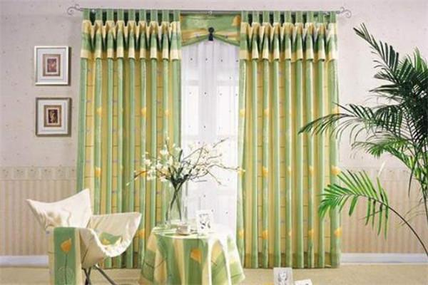 優克窗簾綠色窗簾