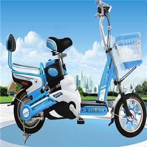 新曰电动自行车蓝色