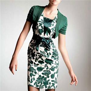 遇见服装UIAN绿色连衣裙