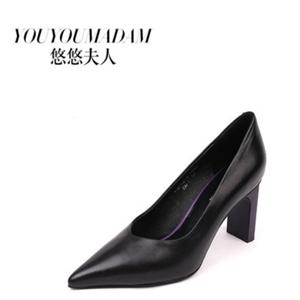 悠悠夫人女鞋黑色