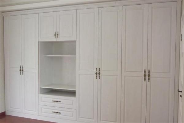 双叶整体衣柜白色