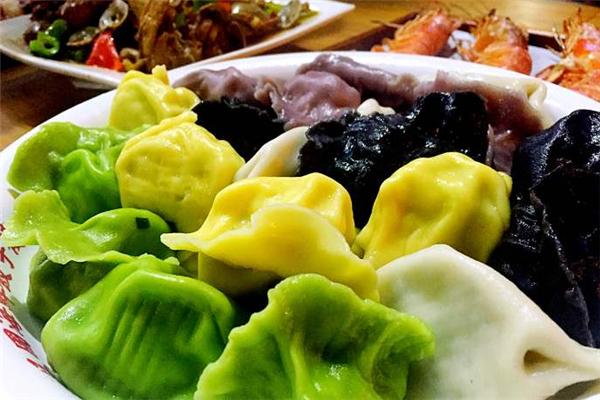 沧浪歌海鲜水饺绿色