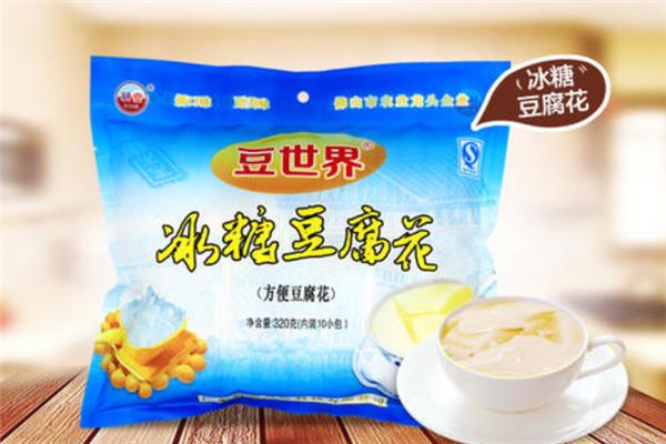 豆世界豆腐花蓝色