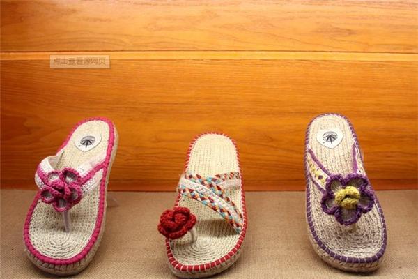 大漠行麻编鞋业宣传