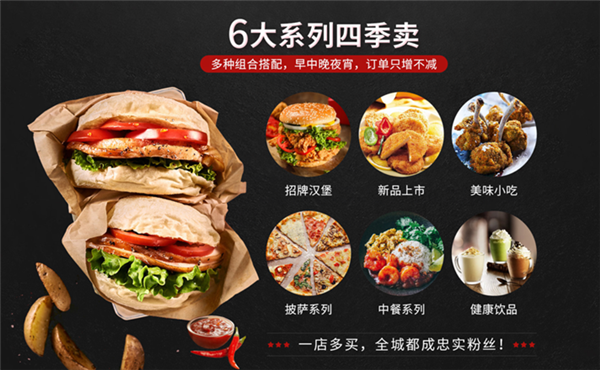 家美滋西式漢堡快餐店優勢2