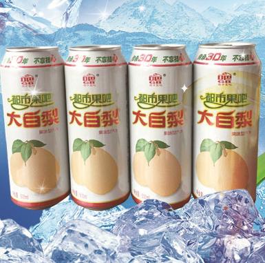大白梨汽水饮品可口
