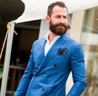 GIANFRANCOFERRE男裝藍色外套