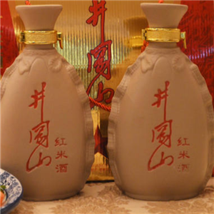 西峰紅米酒黃酒白色