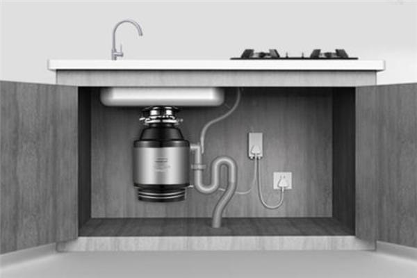 極速廚房垃圾處理器櫻色