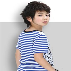 拉童木童裝條紋短袖